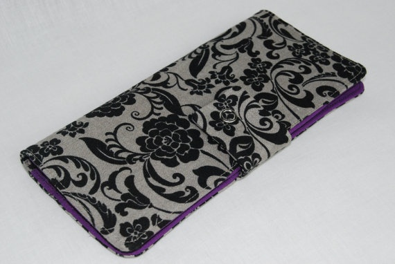 Cotton Wallet with Snap Closure by PecanTreeCreations, $35.00