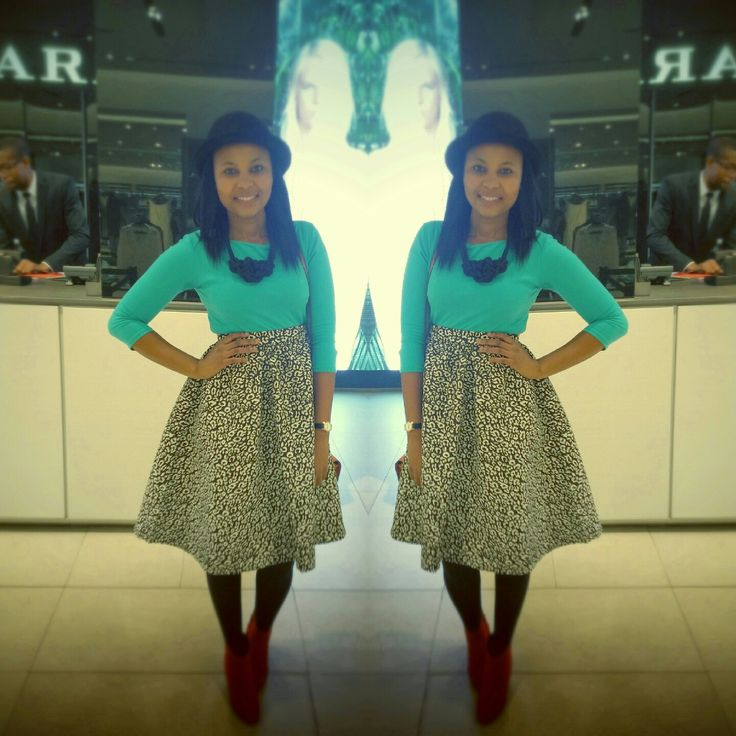Outfit #Khosh Bday Supper # Mr Price Skirt, LOVE IT :-)