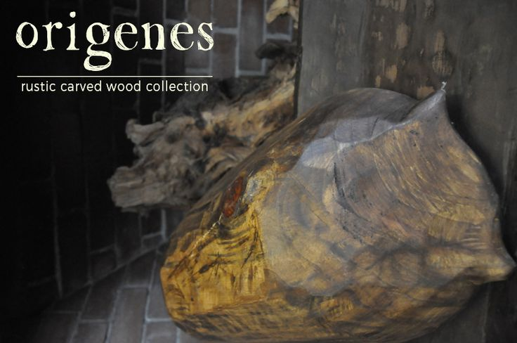 Origenes concept is about creation of natural rustic enviroment by means of artistic wooden bowls.