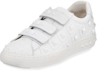 Ash Peace Pyramid-Studded Sneaker, White