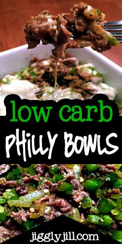 Yummy Low Carb, Bariatric friendly Philly Bowls... like Philly cheese steaks!  The whole family will love these!
