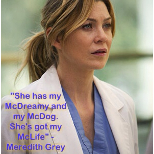 """Fav quote of Grey's Anatomy """"It's the end of the world"""" episode (S2E16)"""