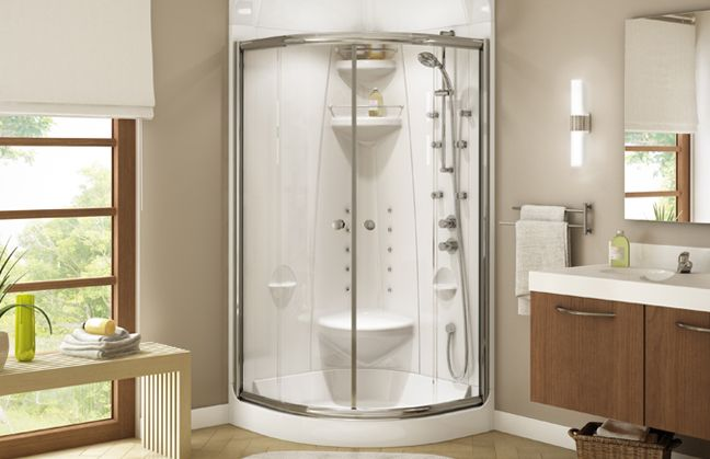 Freestyle Corner Shower By Maax A Practical And Timeless
