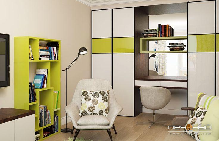 Дизайн гостиной с весенним настроением