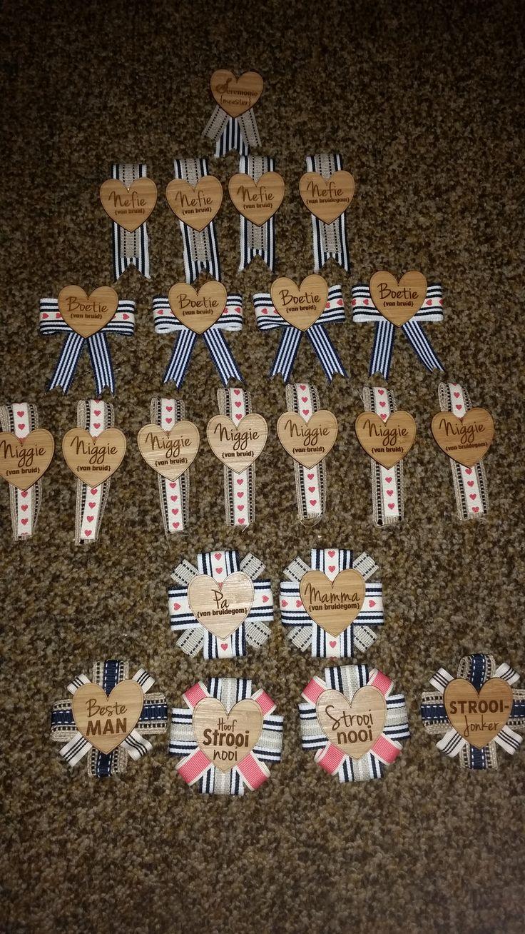 Buttonaires #woodHearts BakGatOntwerp #Ribbons DIY