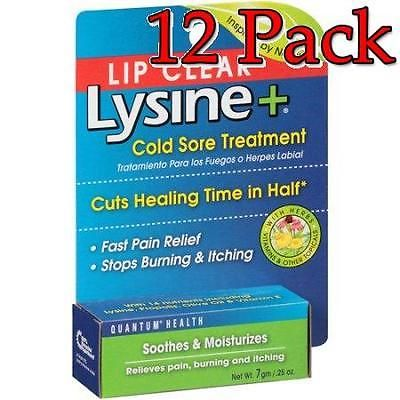 Cold Sores: Lip Clear Lysine+ Cold Sore Treatment Ointment, 0.25Oz, 12 Pack 046985016742T449 -> BUY IT NOW ONLY: $87.99 on eBay!