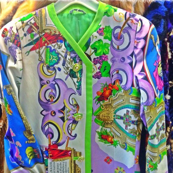 Vintage Versace coat 1990'sSOLD Super couture vintage Versace  jacket lots of details . Size 8 Versace  Jackets & Coats