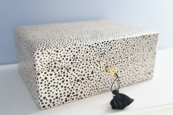 Chic Jewelry Box  Black And White Jewelry Box  by AutumnsRose, $59.99