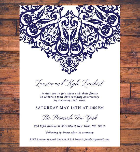 Traditional Vow Renewal Invitation Wedding Invite We Still Do