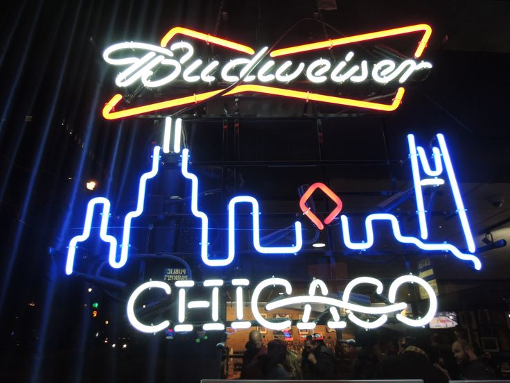Chicago Man Cave Signs : Best images about neon beer signs sports on pinterest