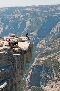 On top of Half Dome, Yosemite.....a truly great walk (and climb up the ladders......)