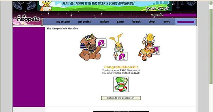 """Dicas para as raspadinhas em """"Neopets"""". Neopets é um jogo online para computador que permite que o usuário faça login de qualquer computador com conexão à internet para ter seu próprio bichinho virtual. O mundo dos Neopets é cheio de vários jogos diferentes, e muitos deles premiam com """"dinheiro"""", que pode ser usado para comprar itens para os bichinhos, chamados Neopets. Um desses jogos ..."""