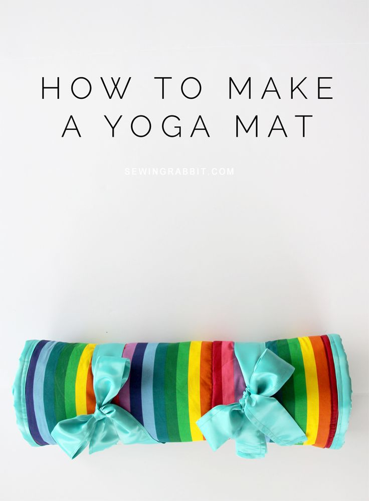 How to make a yoga mat. Easy yoga mat DIY.