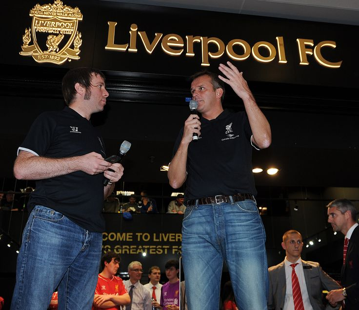 Didi Hamann speaks at the opening of the Official Liverpool FC Store Dublin