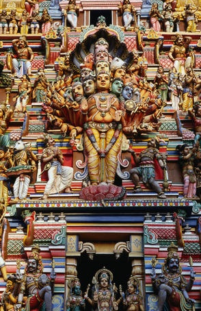 Kovils, Colombo, Sri Lanka Highly decorated Sri Lankan Hindu Temple