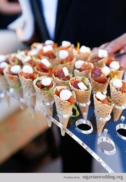 Nigerian Wedding small chops meals ideas 1