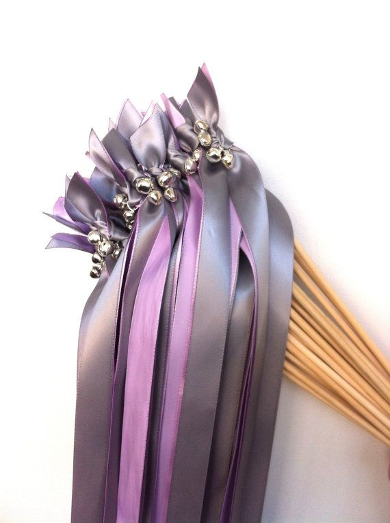 75 Send Off Wedding Wands ANY COLOR Two Ribbon Streamers Bells On Etsy 7500