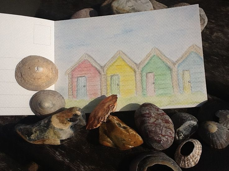 My watercolour, painted whilst we were at the beach today