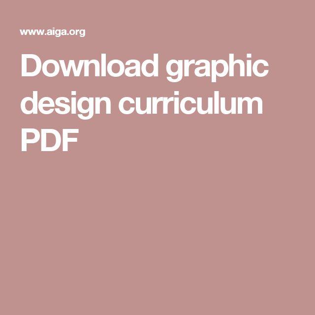 download graphic design curriculum pdf - Graphic Design Project Ideas