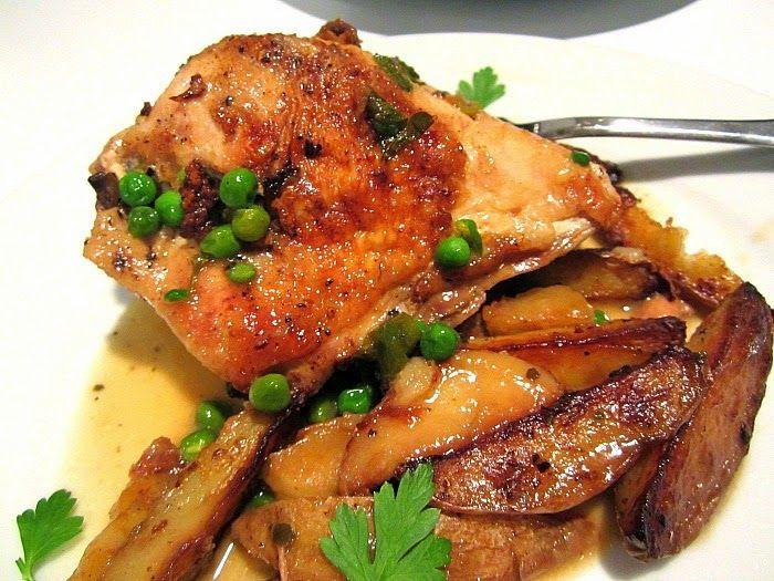 Stacey Snacks: Sunday Dinner: Chicken Vesuvio Chicago Style