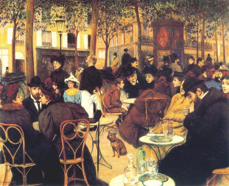 La Terrasse                                        Federico Zandomeneghi    - 1895