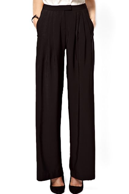 25+ cute Black palazzo pants ideas on Pinterest | Palazzo pants and tops Black wide leg ...