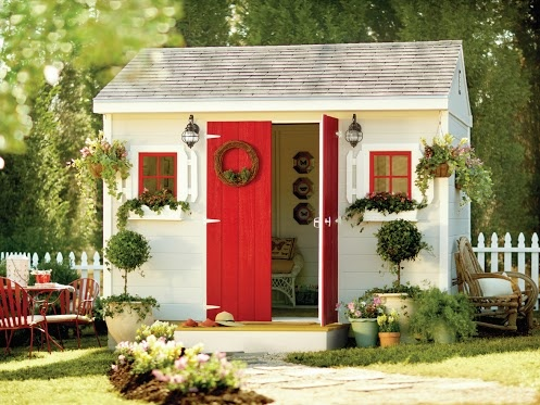 The Home Depot -Love this idea of turning a shed into a craft area!!