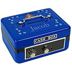Personalized Puppy Dog Design Cash Box / Piggy Bank
