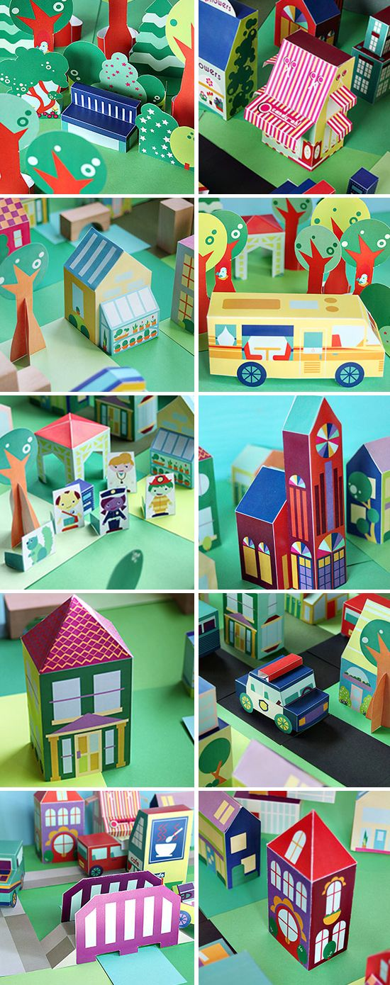""" Check out The Neighborhood: 40 different FREE printables for you to download, print, cut, glue, and play with. """