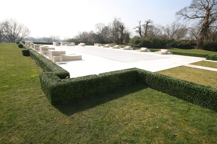 Artificial Topiary Hedging, design and fitted for swimming pool boundary