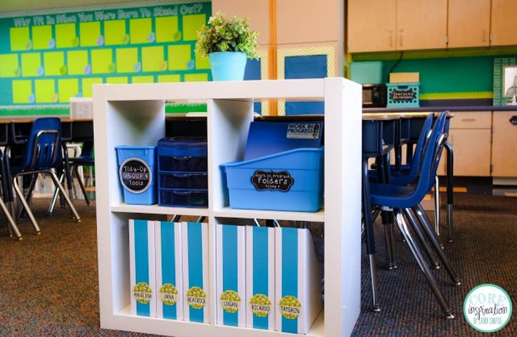 I have used these group supply stations for the past four years and I adore them. They make supplies easy to access and out of cluttered desks.