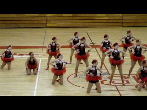 Bountiful High School drill team kick on pointe
