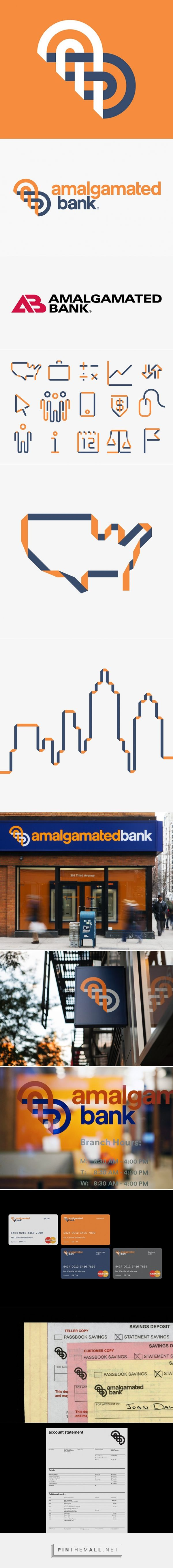 pentagram rebrands the amalgamated bank... - a grouped images picture - Pin Them All