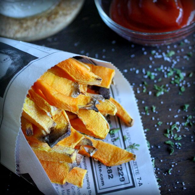 Butternut Squash Fries (ZERO Weight Watchers points plus values for as many as you want!) Great alternative to french fries!