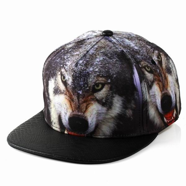 Creative 3D Wolf Baseball Caps Adjtable Mens Womens HipHop Gorras Planas Hip Hop Snapback Cap