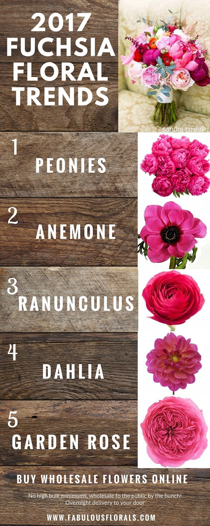 2017 fuchsia wedding flower trends!