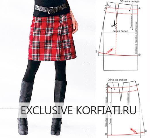 Очень просто! Молодежная и игривая юбка из ткани шотландка понравится вам простотой моделирования и пошива. Безусловно, здесь солирует ткань - яркая клетка.