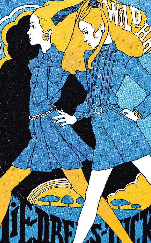 (••) Vintage 1960s Fashion Illustration by Antonio Lopez