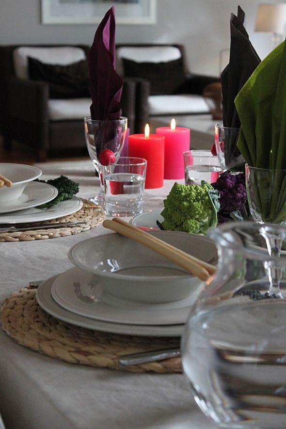 Harvest table setting - Sadonkorjuujuhlan kattaus
