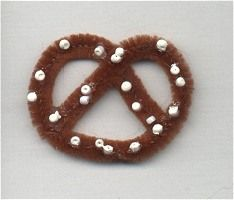 Girl Scout Swaps aka special whatchamacallits affectionately pinned somewhere - World Thinking Day, Germany pretzel