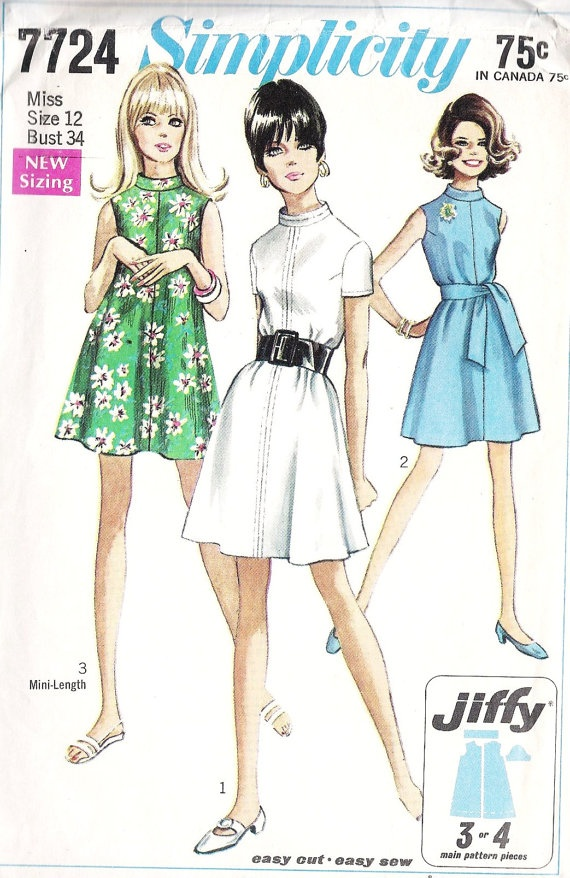 1960s Misses Tent Dress Vintage Sewing Pattern by MissBettysAttic, $8.00