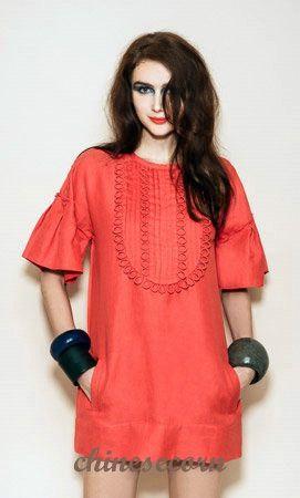 French Luxury Brand Zhor & Nema Pleated Bib silk Linen One-piece dress,2014 Good Quality Original Women Plus Size Dresses