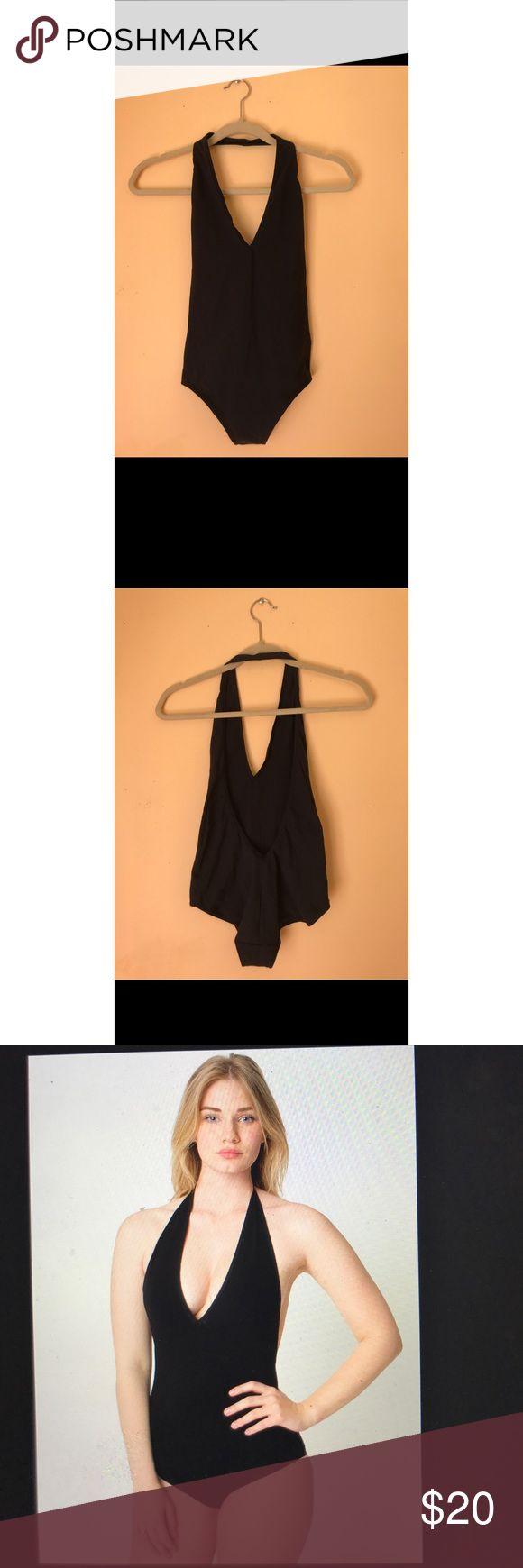 American apparel cotton spandex halter leotard Black thong halter leotard from American apparel. Worn once. Size medium. American Apparel Other