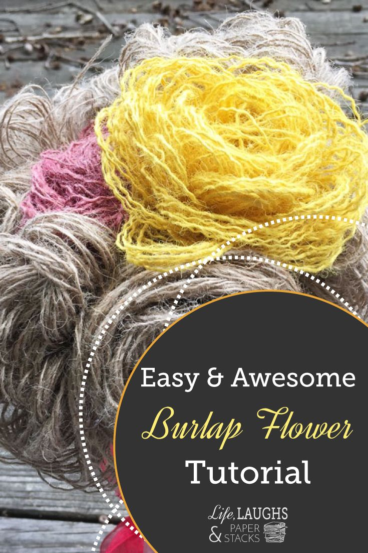 Never rely on fresh flowers again – these burlap flowers will never wilt and stay fresh forever! Learn how to make this super easy bouquet with this burlap flowers DIY tutorial! bit.ly/1RbsZJP