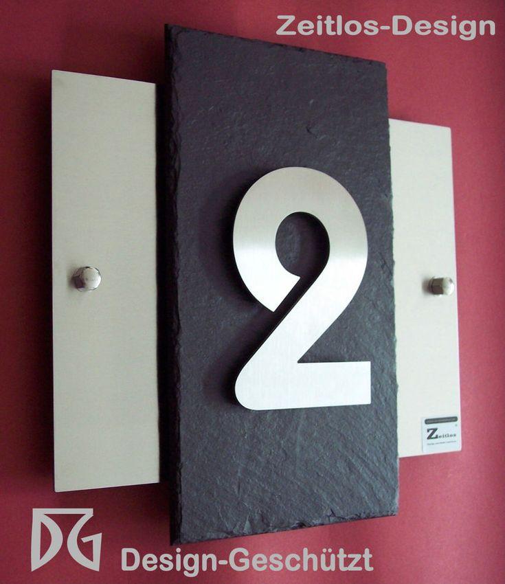 3D-Hausnummernschild/Türschild, hochwertiges Design, aus Edelstahl und Schiefer | Heimwerker, Eisenwaren, Hausnummern | eBay!