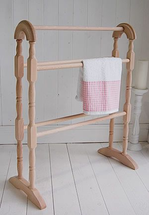 A wooden towel rail from The White Lighthouse