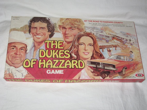 vintage 1981 ideal the dukes of hazzard hit the road to hazzard county board game