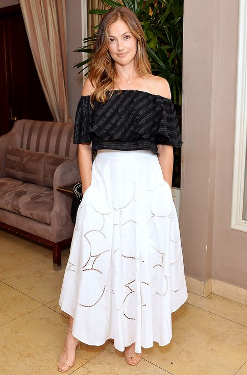 How Celebs Are Wearing the Hottest Hemline of the Summer: The Midi! | People - Minka Kelly in Bibi