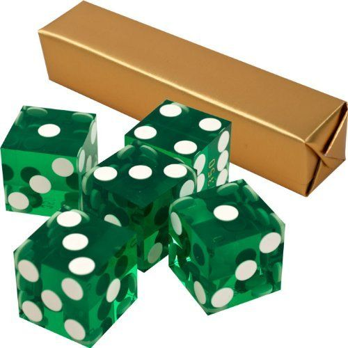 19mm A Grade Serialized Set of Casino Dice-Green by Agritura. $12.31. Our precision 19mm dice sets are manufactured under strict security controls.Precision casino dice are manufactured to exacting standards from high-quality plastic material that is free from defects. The spots on their faces are made flush to ensure there is no imbalance to the dice. These precision dice are made with straight, sharp edges and corners. Casinos choose to serialize their dice to keep the ...
