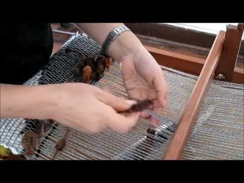 Telar Maria, Como incluir lanas de fantasia. - YouTube